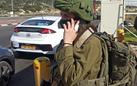 Private Leanne Haroche (photo credit: IDF SPOKESPERSON'S UNIT via JPost)