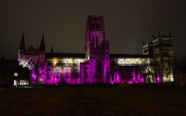 Durham Cathedral lit up for Holocaust Memorial Day