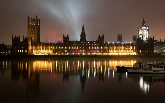 Houses of Parliament lit up for HMD