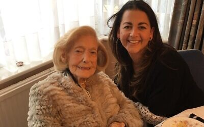 The late Gena Turgel with Karen Pollock