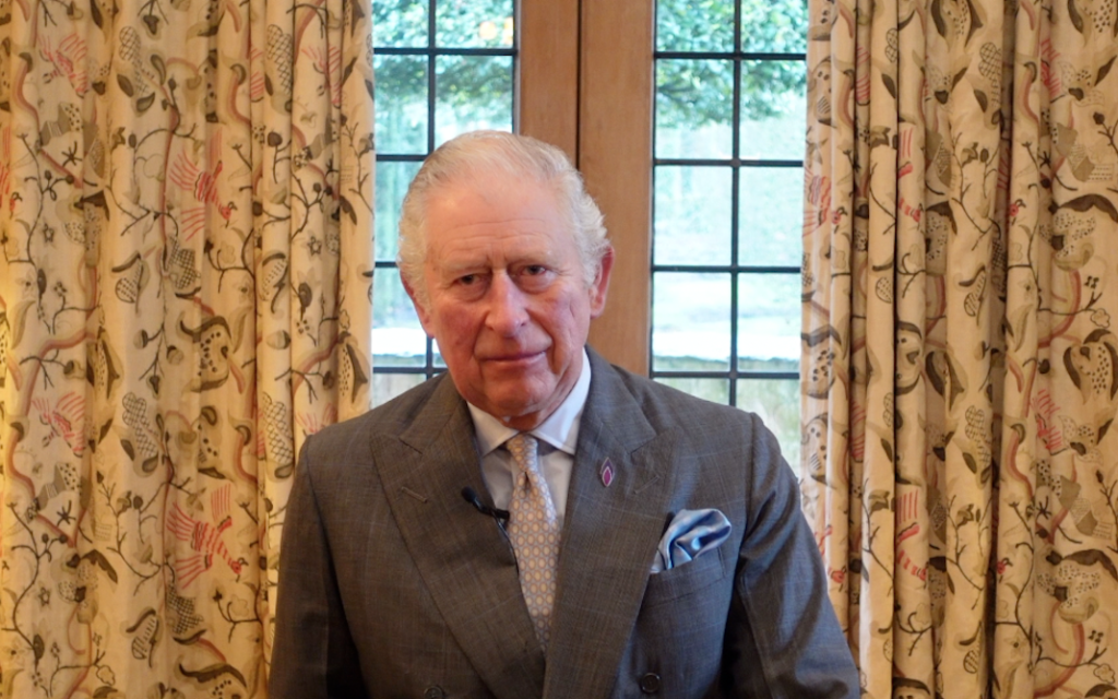Prince Charles speaking during the Holocaust Memorial Day ceremony 2021