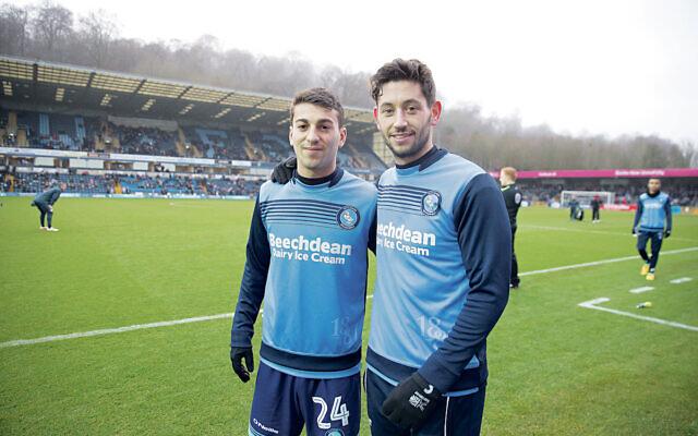 Wycombe Wanderers star Scott Kashket (left) and Joe Jacobson (Credit: Marc Morris)