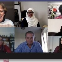 Screenshot of the women's faith meeting  with Colin Bloom