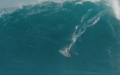 Makua Rothman is thought to have ridden the biggest wave ever! (Screenshot from YouTube)