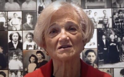 Screen capture from video of Holocaust survivor and educator Toby Levy. (YouTube via Times of Israel)