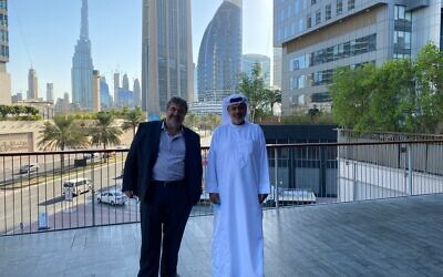 Jon Medved, OurCrowd CEO and Dr Sabah al Binali, UAE Venture Partner and Head of Gulf Operations for OurCrowd together in Dubai