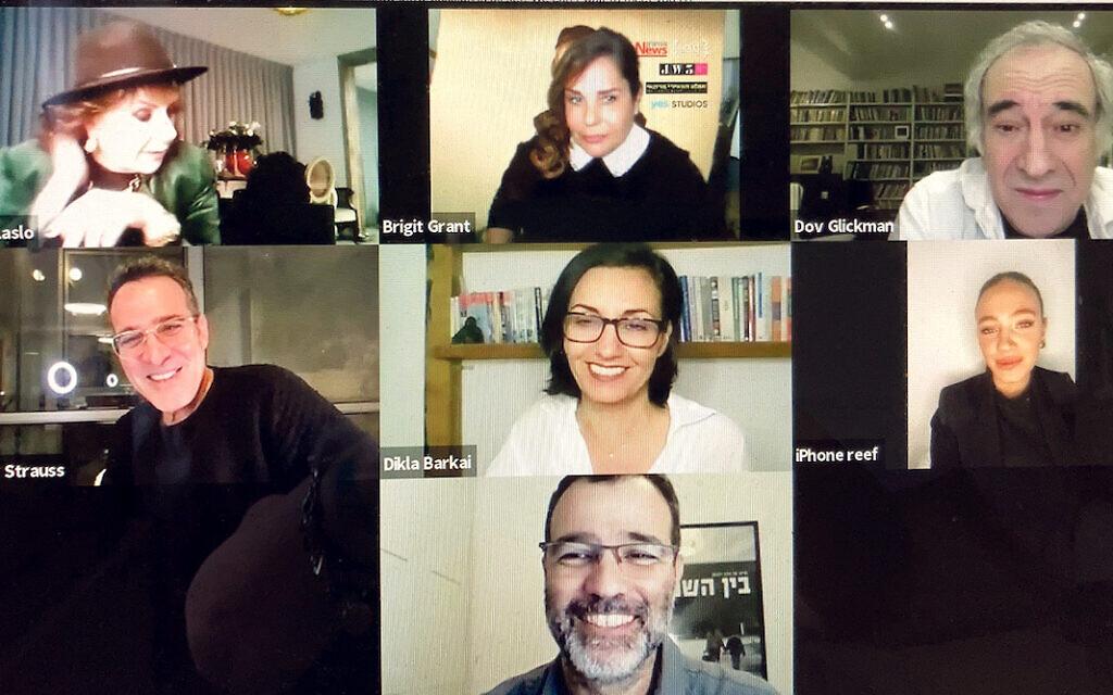 Brigit (centre, top) discussed season three of Shtisel with its cast!