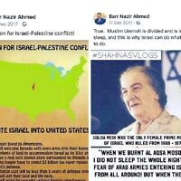 Two posts by Nazir Ahmed