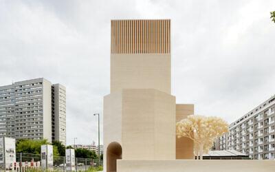 How the multi-faith building, dubbed a churmosquagogue, might look