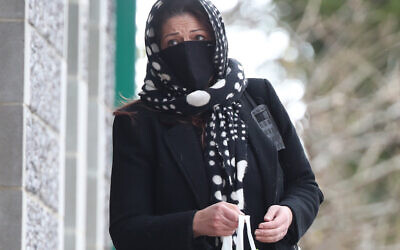 Nicole Elkabbas arriving at Canterbury Crown Court where she is due to be sentenced after conning kind-hearted members of the public out of thousands using a GoFundMe page whilst faking having cancer. Picture date: Wednesday February 10, 2021.