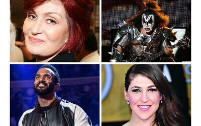 Sharon Osbourne, Gene Simmons, Craig David and Mayim Bialik