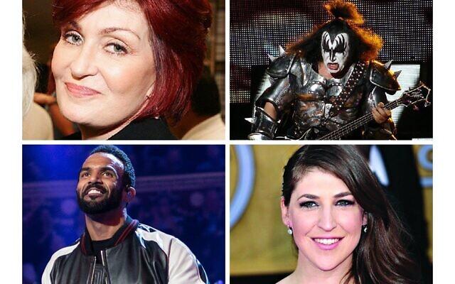 Sharon Osbourne, Gene Simmons, Craig David and Mayim Bialik