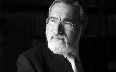 Former Chief Rabbi, Lord Sacks.  © Blake-Ezra Photography Ltd. 2013