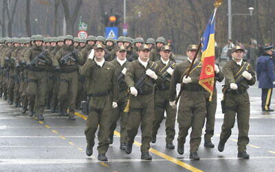 A Counter-Terrorism Battalion of the SRI on parade in 2008. (Wikipedia/Source	http://www.mapn.ro/fotodb/20061129_1/Detasamentul_Brigazii_Antiteroriste Author	MAPN/ Attribution-ShareAlike 3.0 Unported (CC BY-SA 3.0))
