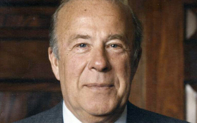 George P. Shultz (Wikipedia/ Author	US Government / public domain)