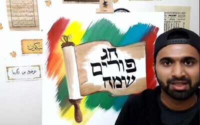 Multi-lingual greeting by calligraphy artist Thoufeek Zakriya