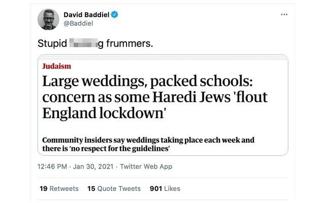 David Baddiel's controversial remark