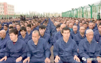 Uyghur Muslims held in 're-education' camps in north west China