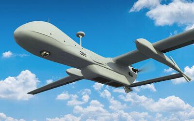 The WASP on the tactical BirdEye650D tactical UAV and the strategic Heron UAV. (Credit: IAI).