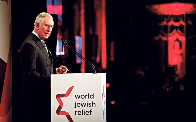Prince Charles speaking at a WJR event