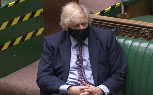 Prime Minister Boris Johnson in the House of Commons.