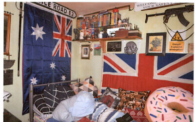 "Bedroom of far-right sympathiser Nicholas Brock who was convicted of three counts of possession of a document likely to be useful to a terrorist at Kingston Crown Court on Tuesday. Brock, 53, from Maidenhead, Berkshire, owned a framed ""certificate of recognition"" from the Ku Klux Klan, a DVD called SS Experiment Camp, a collection of Nazi-era daggers and a racist book about owning a black slave. Issue date:  Photo issued by Thames Valley Police"