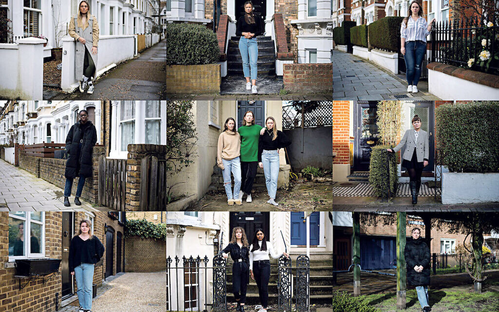 Young women, who have all spoken about their experiences of sexual intimidation, stand outside their homes in tribute to Sarah Everard. The women pictured are not the same at those featured in this article.