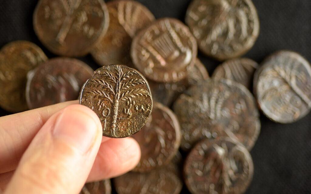 Bar Kochva Hoard. Photo-Dafna Gazit Israel Antiquities Authority