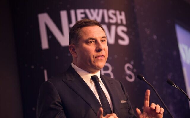 David Walliams at Jewish News' Night of Heroes (Blake Ezra Photography)