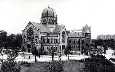 Bornplatz synagogue, destroyed on Kristallnacht