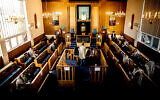 Synagogue service under lockdown in the early stages of the pandemic (Marc Morris Photography)