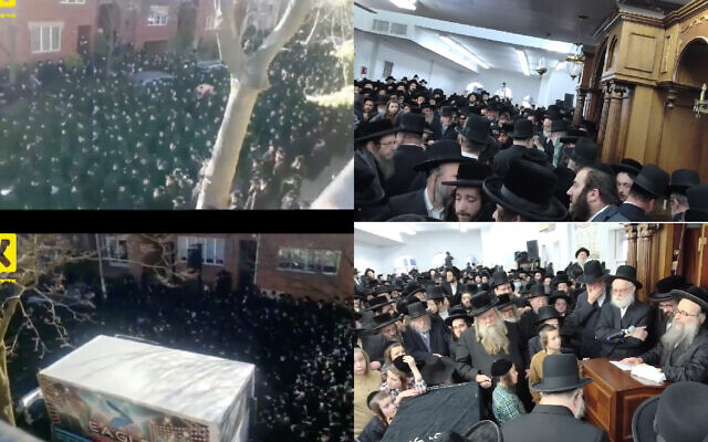 Screenshots of the funeral and mourning processions