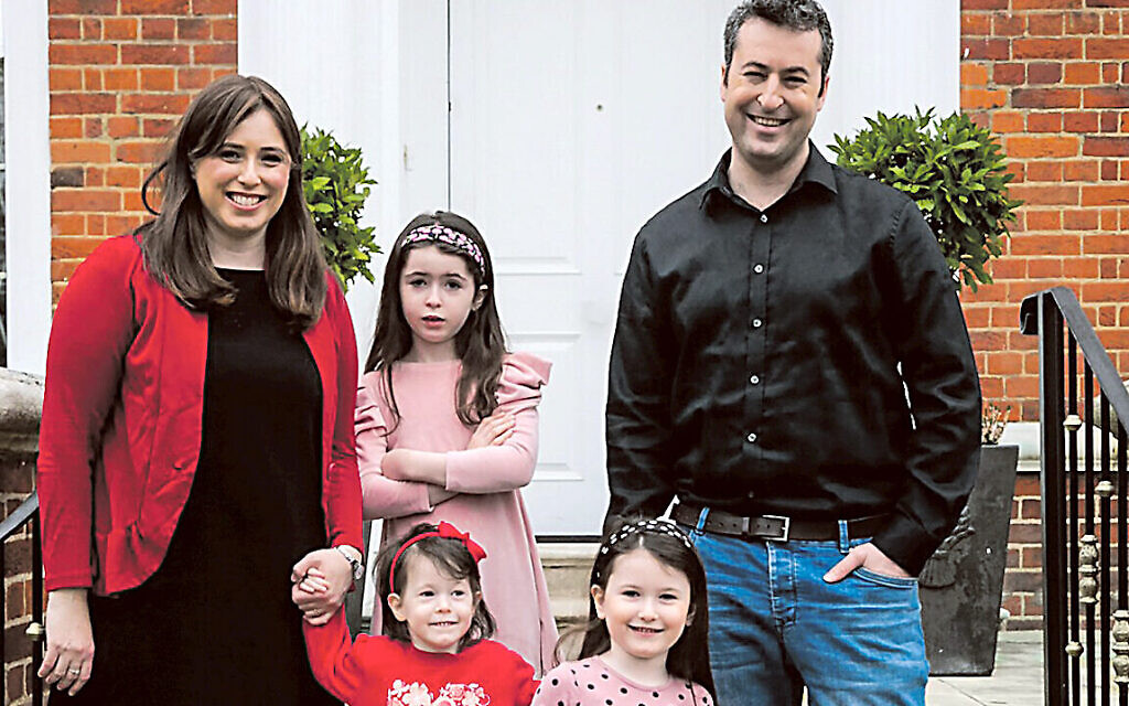 Tzipi Hotovely in London with her family Left