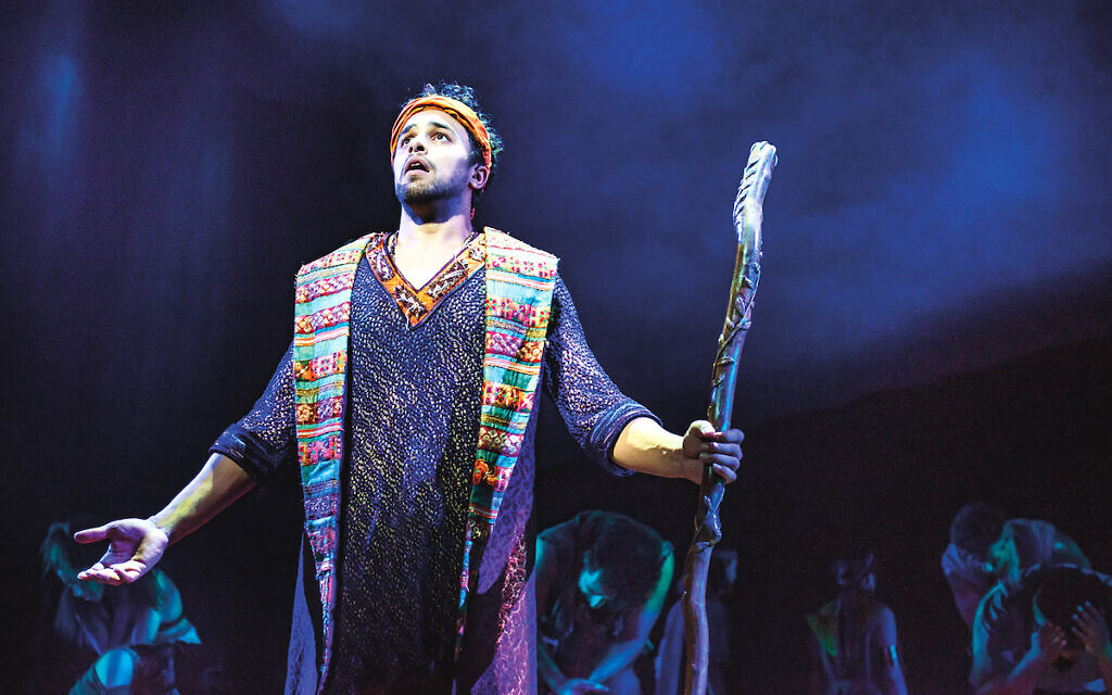 Luke Brady as Moses in the Prince of Egypt