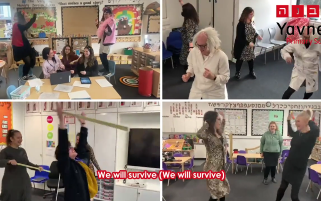 Teachers recreated Gloria Gaynor's I Will Survive