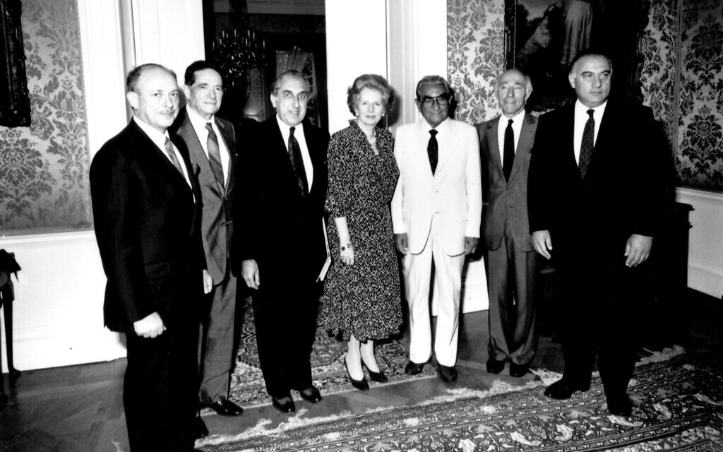 English connection: Thatcher Meeting Isi and delegation of World Presidium of Soviet Jewry