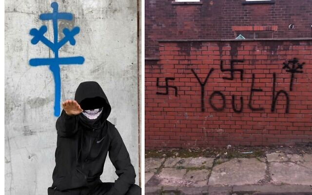 Images obtained by Hope not Hate of the National Partisan Movement, named in the report