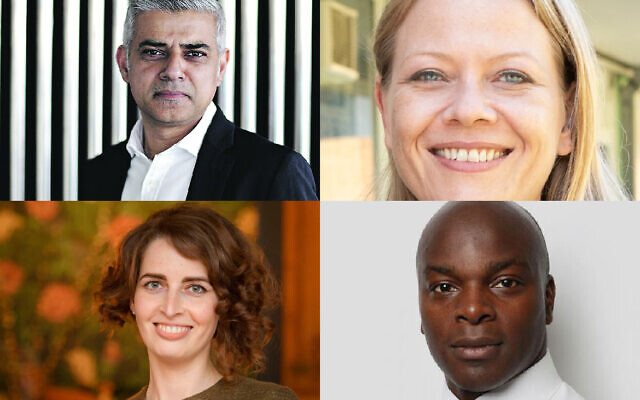 Sadiq Khan, Sian Berry, Luisa Porritt and Shaun Bailey
