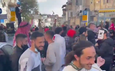 Parties like this one in Jerusalem's Nachlaot  neighbourhood were condemned by Prime Minister Benjamin Netanayhu (Photo: @SuleimanMas1/Twitter)