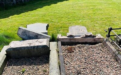 Vandalism at the Jewish cemetery in Belfast (Credit: Steven Corr)