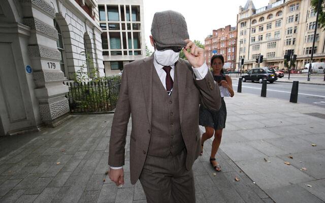 Benjamin Hannam leaving Westminster Magistrates' Court, London
