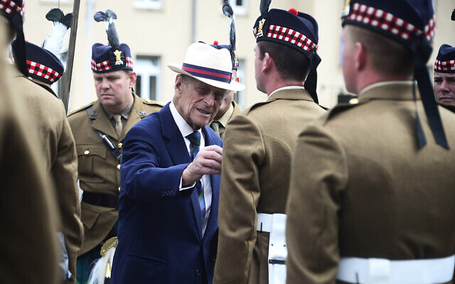 File photo dated 12/06/14 of the Duke of Edinburgh with the 4th Battalion, The Royal Regiment of Scotland in Fallingbostel, Germany Nigel Treblin/PA Wire