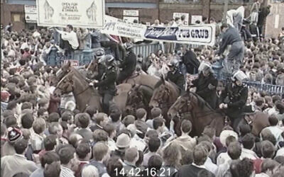 There were huge crowds outside Hillsborough Stadium in Sheffield ahead of the 1989 crush (Photo: PA)