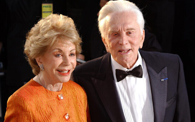 Kirk Douglas and Anne Buydens. Anne, the wife of late Hollywood great has died aged 102, her family said.  (PA Wire/PA Images/Yui Mok)