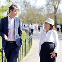 Robert Peston, ITV's political editor, met Lily Ebert, a 97-year-old survivor.