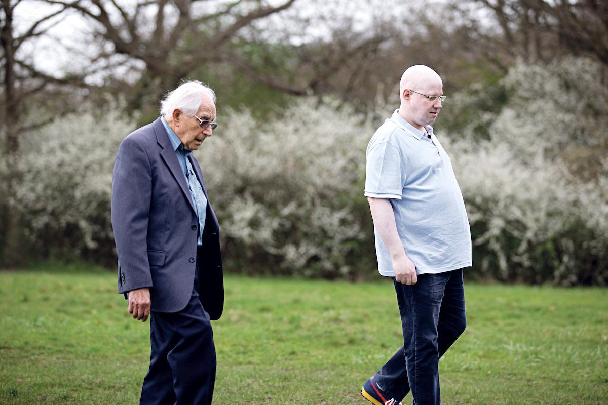 Matt Lucas met 93-year-old survivor Harry Olmer