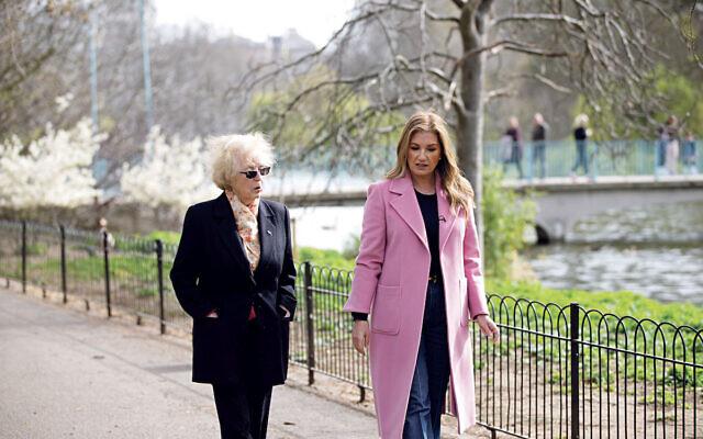 Karren Brady with Agnes Kaposi,