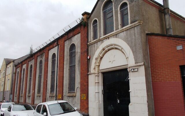 Former Synagogue building on Annesley Street, Belfast (Wikipedia/AuthorWhiteabbey/ Attribution-ShareAlike 4.0 International (CC BY-SA 4.0)  https://creativecommons.org/licenses/by-sa/4.0/legalcode)