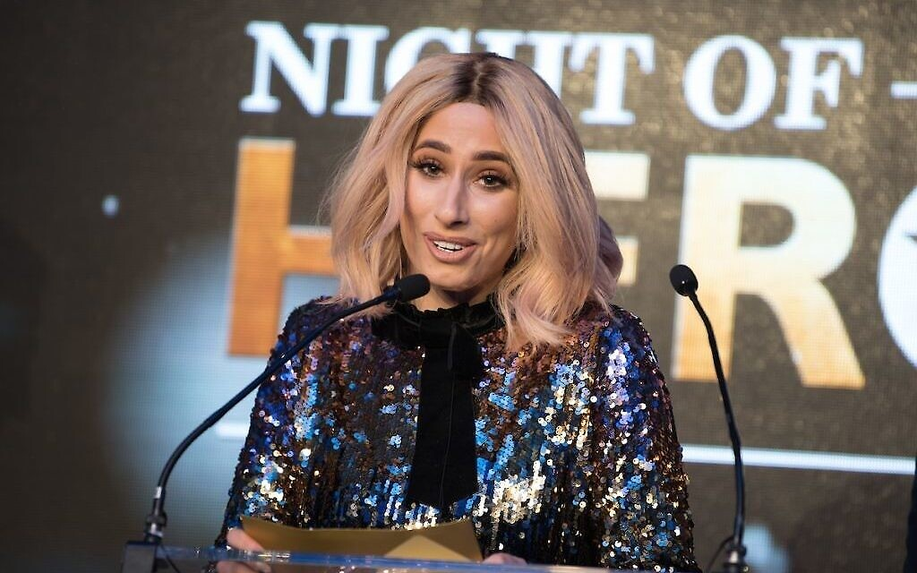 Stacey Solomon at the Jewish News Night of Heroes Awards (Blake Ezra Photography)