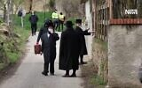 Hundreds of Chasidim were visiting the villag of Bodrogkeresztúr in northeast Hungary this week (Photo: Reuters)